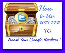 Using Twitter to build your Google Rank. More Twitter tips at http://getonthemap.us/twitter/blog #573tips #twitter #seo
