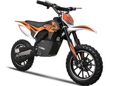 The MotoTec electric dirt bike is a fun ride for anyone ages 12 and up. The dirt bike features all the necessities, like front and rear suspension, brakes and three selectable speeds. The orange color Dirt Bikes For Sale, Dirt Bikes For Kids, Cool Dirt Bikes, Electric Dirt Bike, Electric Scooter, Electric Cars, Electric Vehicle, Electric Motorcycle For Sale, Kids Motorcycle