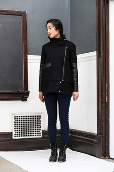 Melton Wool and Leather Jacket