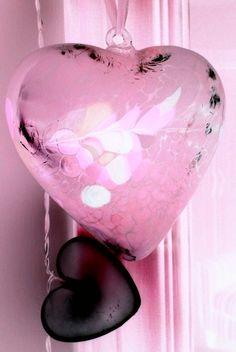 Pretty pink glass heart