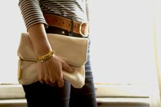 Love this leather foldover clutch by Btwn Wind and Water - Portland, OR