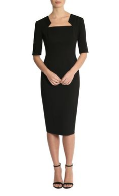 Black Ponti Dress