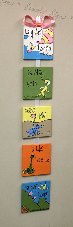 Oh The Places You'll Go    Dr. Seuss  Style Birth Announcement for baby's nursery