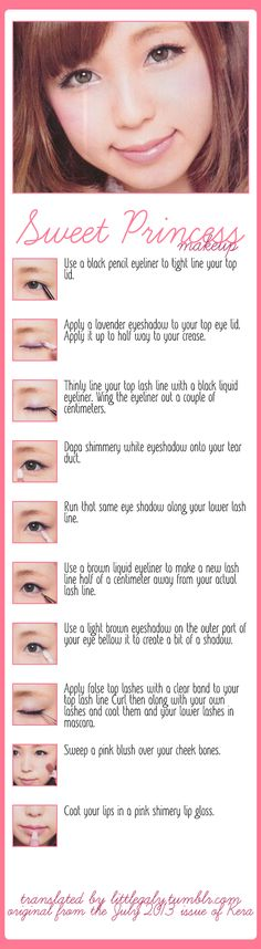 Sweet Princess Makeup tutorial from the July 2013 issue of Kera.
