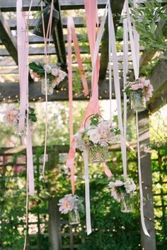 Long ribbons: http://www.stylemepretty.com/california-weddings/los-altos/2015/03/18/romantic-and-rustic-garden-wedding/ | Photography: U Me Us - http://umeusstudios.com/