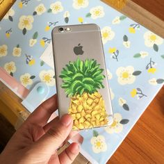 Customer Pictures Pineapple iPhone case #Pineapple @starrybuy #iPhonecase   Buy It: https://www.starrybuy.com/collections/clear-phone-case/products/ultra-slim-translucent-silicone-clear-case-gel-cover-for-apple-iphone-watercolor-pineapple