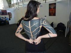 site dedicated to blackwork or black work tattoos Hot Tattoos, Girl Tattoos, Tatoos, Black Sleeve Tattoo, Sleeve Tattoos, Blackout Tattoo, Full Back Tattoos, Thai Tattoo, Total Black