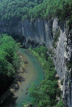 The Buffalo River between Ponca & Jasper, Arkansas