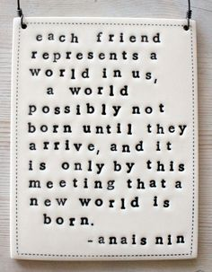 plaque anais nin quote.  IN STOCK by mbartstudios on Etsy, $28.00