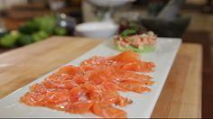Salmon gravlax with gin