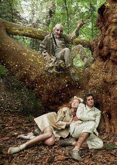 Hansel & Gretal - Lily Cole & Andrew Garfield - Annie Leibovitz (2009)