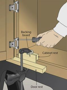 Install all your doors evenly with this jig. #WoodworkProjects