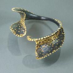 Bracelet | Margot diCono ~ Studio Numen.  Sterling silver, 22k gold