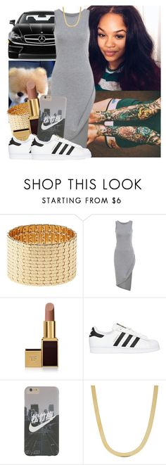 """""""✨"""" by trillest-queen ❤ liked on Polyvore featuring Mercedes-Benz, Charlotte Russe, Tom Ford, adidas Originals and Fremada"""