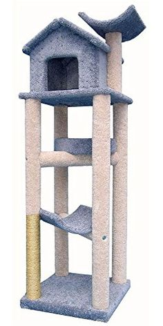 treehouse multitier cat climber w bed and perches navy read more reviews of - Cat Climber