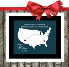 our CONVersation   long distance relationship state map
