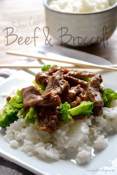 Slow Cooker Beef and Broccoli (  Pantry Crashers Video)