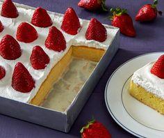 Γλυκό ψυγείου με φράουλες | Συνταγή | Argiro.gr Tres Leches Cake, Food Categories, Piece Of Cakes, Dessert Recipes, Desserts, Greek Recipes, Cheesecake, Cooking Recipes, Yummy Food