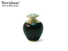 Terrybear Satori Onyx Keepsake. This Keepsake can hold a small amount of cremated remains.