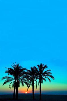 Blue sunset, Oahu, Hawaii