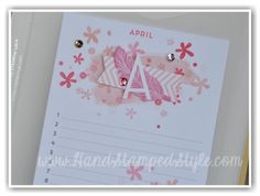Get organized in style for 2015 with this FAB perpetual  birthday calendar from http://www.handstampedstyle.com using the new kit from Stampin' Up!