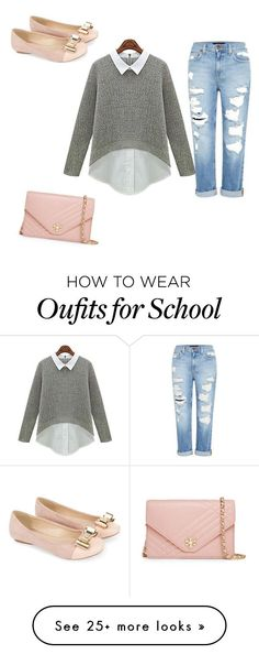 """School"" by catieb367 on Polyvore featuring Genetic Denim, Monsoon and Tory Burch"