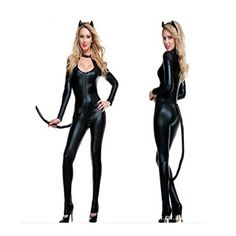 Women Halloween Fancy Dress Anime Catwoman Costume Adult Sexy Cat Scary ** More info could be found at the image url.
