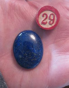 Gem Stone Semi Precious Lapis Lazuli Polished by dimestoreemporium, $7.00