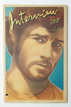 interview magazine brad davis front cover 1979 vol ix no 10 andy warhol