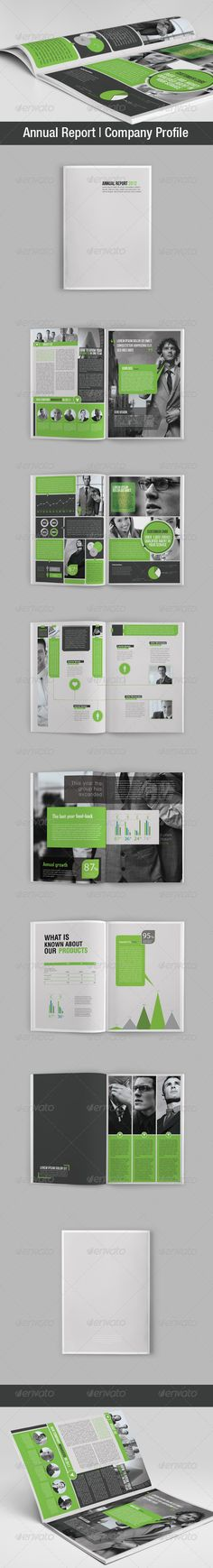 Annual Report | Company Profile  —  InDesign Template • Only available here! →…