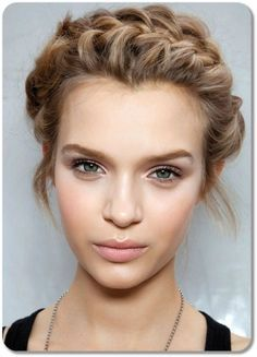 halo braid short hair - Google Search