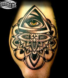 There is over 10 Illuminati signs, shapes, and geometry equations in this symbol. Only a person who is in denial would put this tattoo on them. This sign can be seen in On people and buildings all throughout the world in all kinds of different design that all had to do with the eye of prosperity. It's original origin comes from ancient Egypt.