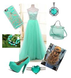 """""""PROM """" by erykahcathey ❤ liked on Polyvore featuring AX Paris, Fendi, Casetify and Bling Jewelry"""