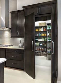 33 Amazing Secret Rooms You Will Want In Your Amazing Secret Rooms You Will Want In Your Home Raise Your Room With New Kitchen Design Your kitchen might be an operating space at home, but that . Dream Home Design, My Dream Home, Dream Homes, Dream House Interior, Modern House Design, Dream Life, New Kitchen, Kitchen Decor, Kitchen Ideas