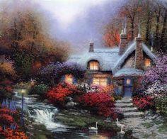 Thomas Kinkade Paintings, Thomas Kinkade Painting 132.jpg