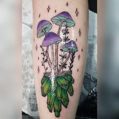 Magic Mushrooms by Ellie Chase at Black Heart Tattoo GA - Magic Mushrooms by E . - Magic Mushrooms by Ellie Chase at Black Heart Tattoo GA – Magic Mushrooms by Ellie Chase at Black - Et Tattoo, Piercing Tattoo, Tattoo Drawings, Piercings, Future Tattoos, Love Tattoos, Beautiful Tattoos, Tattoos For Women, Hippie Tattoos