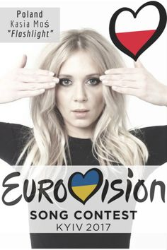 Kasia Mos will represent Poland at the Eurovision Song Contest of 2017 with the song 'Flashlight'.