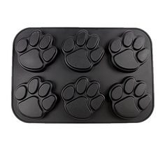 Black Paw Print Silicone Muffin Pan *** Details can be found by clicking on the image.