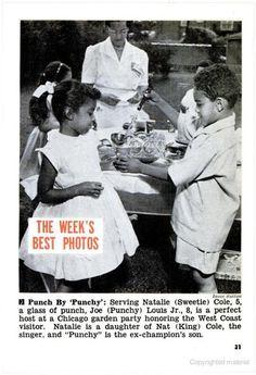 Young Natalie Cole and Joe Louis Jr.  (Jet Magazine, July 14, 1955)