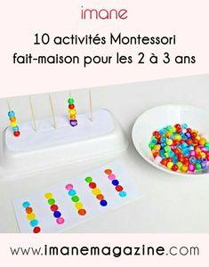 10 activities Montessori home-made years – Imane Magazine