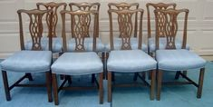 Classic vintage Chippendale dining chairs for sale. Dining Chairs For Sale, Dining Rooms, Dining Chair Makeover, Reupholster Furniture, My Unique Style, Custom Window Treatments, Classic House, Timeless Classic, Vintage Furniture