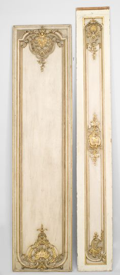 French Louis XV architectural element paneling painted