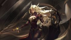 ♥『League of Legends』♥ - Praise the Sun by JSY Lol League Of Legends, League Of Legends Support, League Of Legends Account, League Of Legends Characters, Female Monster, Warrior Girl, Anime Warrior, The Guardian, Fantasy Characters