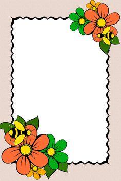Frame Border Design, Page Borders Design, Bubbles Wallpaper, Framed Wallpaper, Flower Background Design, Halloween Borders, Frame Floral, Flower Picture Frames, Boarders And Frames