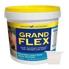 Grand Flex by Grand Meadows by Grand Meadows. $33.95. Grand Flex contains 5,000 mg purified Glucosamine HCl, 5,000 mg Vitamin C, plus other antioxidants and chelated minerals. The Horse Journal's pick for Best Glucosamine product! View our Joint Supplement Comparison Chart Click here to read more about Grand Flex