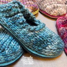 Joe's Toes Sam Knitted Slipper Kit UK sizes