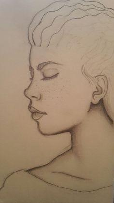Skizze: Was haltet ihr von meinem Zeichenstil? #drawing #zeichnen #malen #profil #gutefrage #skizze #Bleistiftzeichnung