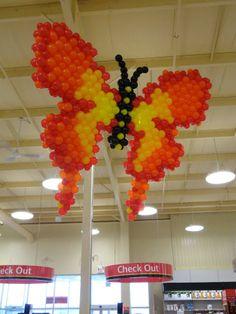 #Butterfly #BalloonART #Qualatex #STEWART's Baskets & Balloons #Toronto Balloons www.reli-a-drop.com