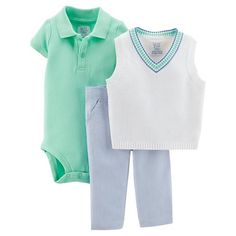 Just One You™ Made by Carter's® Boys' 3-Piece Top and Bottom Set