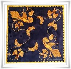 Butterflies and Birds Silk Scarf